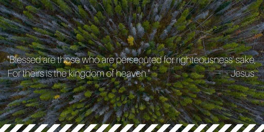 persectued church scripture