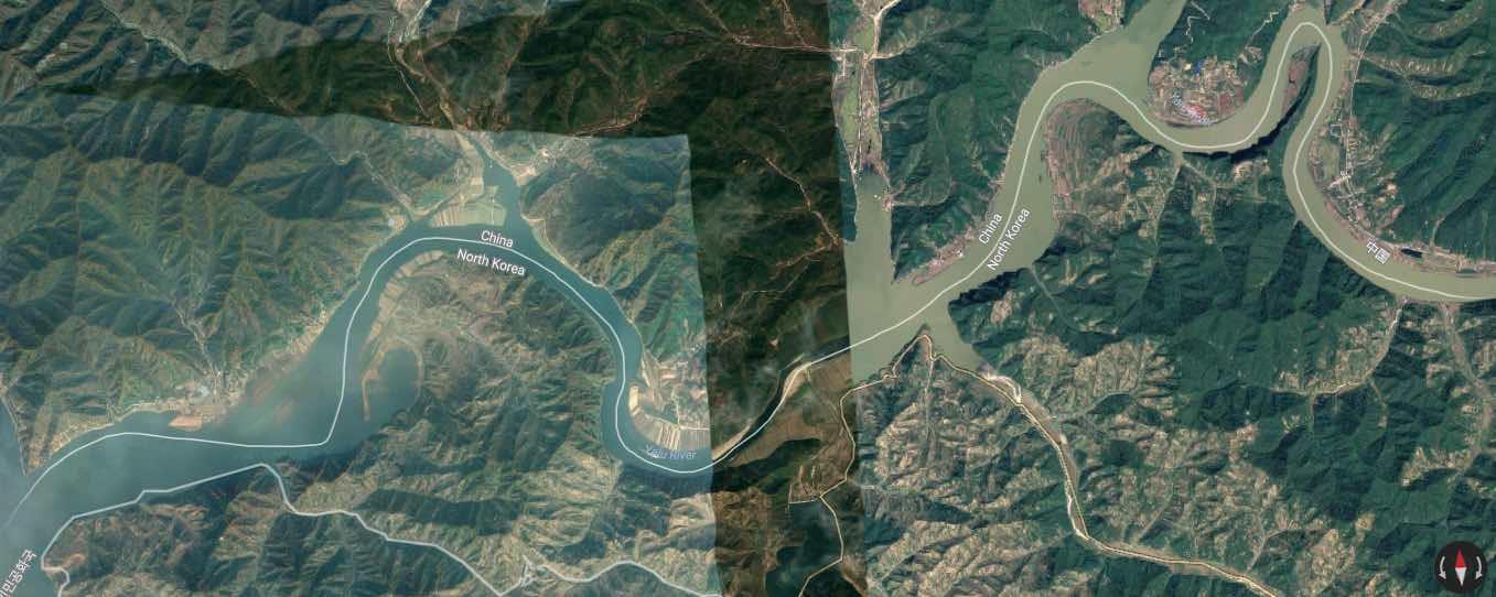 north korea china map